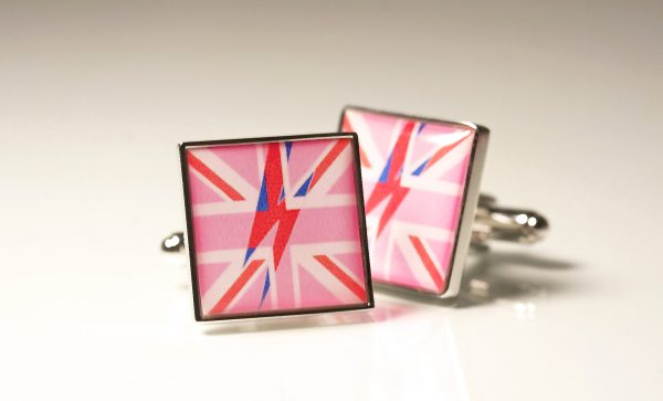 Square Bowie Flash Cufflinks
