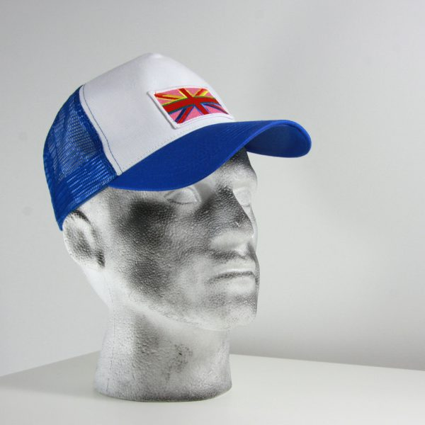 Blue & white cap with Rainbow Jack