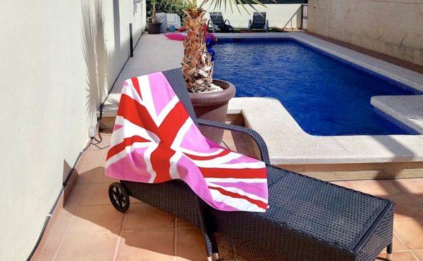 Large PinkJack Beach Towel